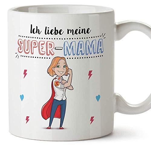 Tasse Mama Geschenk - Super Mama - Schöne und lustige Kaffeetasse/Mug/Becher als Geschenkidee für Mütter/zum Muttertag/zum Geburtstag