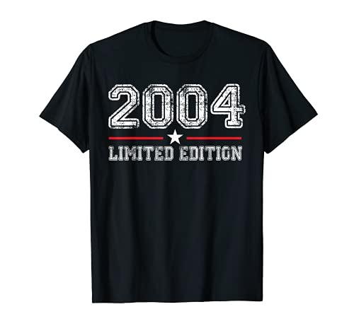 17 Años Cumpleaños Chico Chica Regalo Deco Divertido 2004 Camiseta