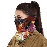 Protección solar Bandanas Fantasía Mushroom Forest Face Bufanda cubierta máscara cuello polaina con 2 filtros