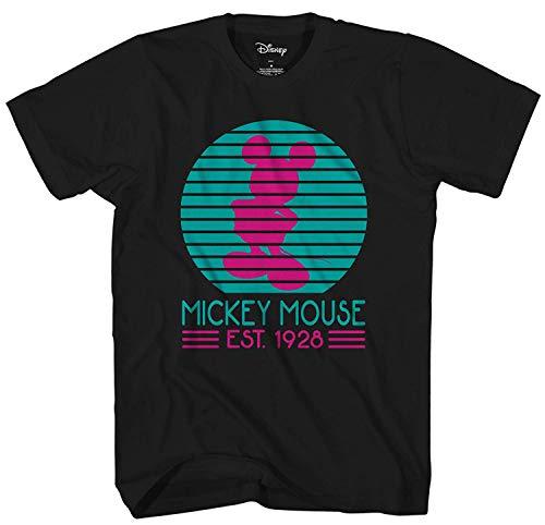 Disney Mickey Mouse Miami Ears Disneyland World Tee Funny Humor Men's Graphic T-Shirt (Black, X-Large)