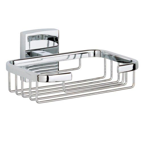 Nie Wieder Bohren klaam Seifenhalter, für die Dusche, inkl. Klebelösung, verchromt, garantiert rostfrei, 60mm x 135mm x 117mm