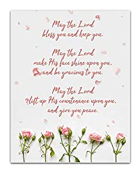 may the Lord bless you unframed wall art