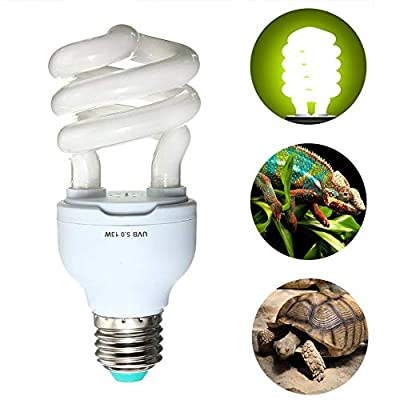 Asdomo E27 Reptile Light Bulb 5.0 10.0 UVB 13W Reptile Light Bulb UV Lamp Vivarium Terrarium Tortoise Turtle Snake Pet Heating Light Bulb 220v-240v from Asdomo