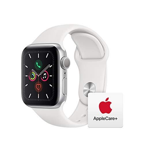 Image of the Apple Watch Series 5 (GPS, 40mm) - Silver Aluminum Case with White Sport Band with AppleCare+ Bundle