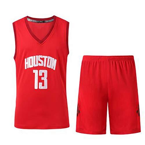 DIWEI Herren Basketball Jersey, James Harden 13# Houston Rockets Street Retro T-Shirt Sommer Stickerei Tops Junge Swingman Basketball Kostüm Geburtstagsgeschenk (S-3XL) Gr. M (170/175 cm), rot