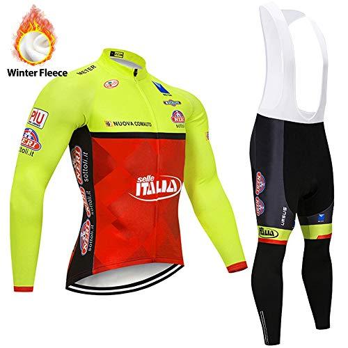 STEPANZU Conjunto Ropa Ciclismo Hombre Invierno Maillot Ciclismo Hombre + Culote Pantalones...