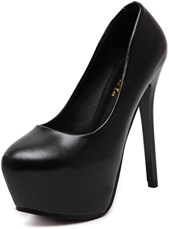 RUGAI-UE Ladies' new high heels, European and American night tables, waterproof tables, and heels.