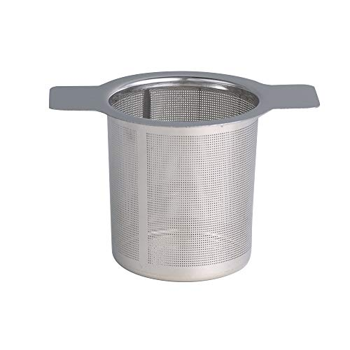 Infusor de té de malla con tapa reutilizable para té, filtro de té de acero inoxidable, filtro de especias, utensilios de cocina