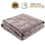 Gewichtsdecke 140 x 200cm, 4kg - Zertifizierte Therapiedecke Chemikalienfrei - Weighted Blanket mit...