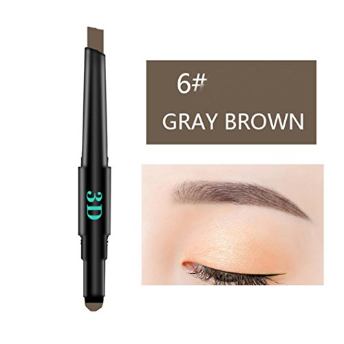 gaddrt 3 IN 1 Wasserdichte Multifunktionale Automatische Augenbraue Pigment Make-Up Kit Schönheit (F)