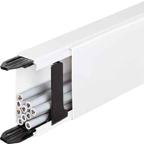 Hager LF4004007030 Kabelkanal Elektroinstallationskanal (L x B x H) 2000 x 40 x 40 mm 1 St. Stein-Grau