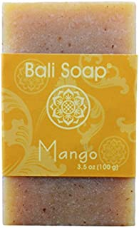 Bali Soap - Mango Natural Soap Bar, Face or Body Soap Best for All Skin Types, For Women, Men & Teens, Pack of 3, 3.5 Oz each