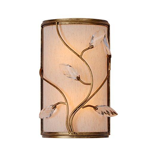 Lampe de chevet américain cristal abat-jour en tissu simple rétro étude escaliers chambre lampe allée mur lampe