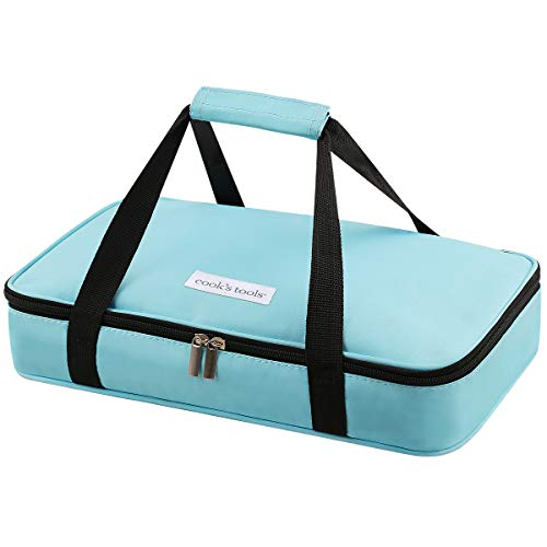Aibeide Insulated Casserole Carrier for Hot or Cold Food, Fits 8 x 13 Inch Baking Dish, Lasagna Holder Tote, for Potluck Parties, Picnic, Cookouts, Reusable Travel Lunch Bag