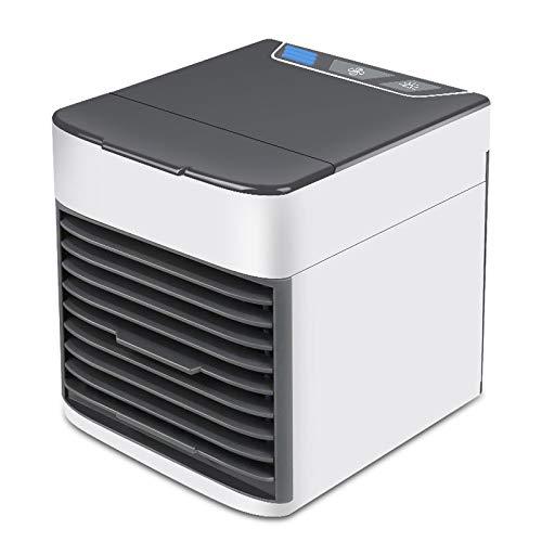 DACHENGJIN Ventilador portátil Mini USB de Carga del Ventilador acondicionador de Aire eléctrico de Escritorio del refrigerador de Aire (Negro) (Color : Black)