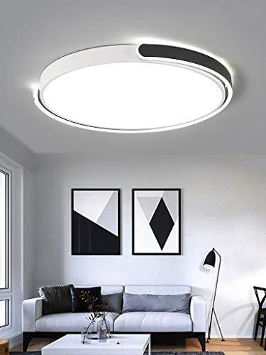 Modern LED-Deckenlampe Runde Modern Deckenleuchte Schwarz Burolampe Disign Minimalistisch aus Metall und Acryl fur Buro Esszimmer Wohnzimmer Schlafzimmer Terasse Dimmbar Stufenlos 40W 038*5CM 2800LM