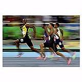 ZHINING Carteles e Impresiones Usain Bolt Atleta de Pista y Campo Cuadro Lienzo Carteles e Impresiones Impresión HD Pintura al óleo Mural Sala de Estar Decoración del hogar Pintura sin Marco