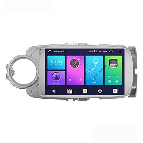 Android 10.0 Car Stereo 2 Din Head Unit per Toyota Yaris Vios 2012-2017 Navigazione GPS Touch screen da 9 pollici MP5 Lettore multimediale Ricevitore video radio con 4G WIFI DSP