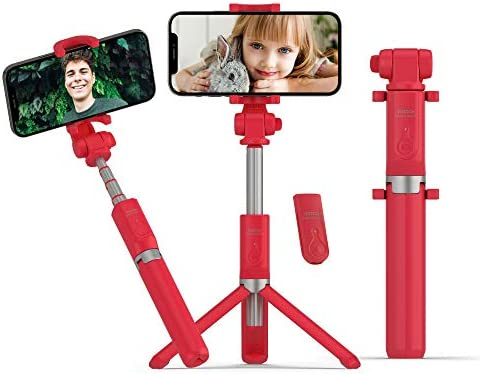 Red selfie stick