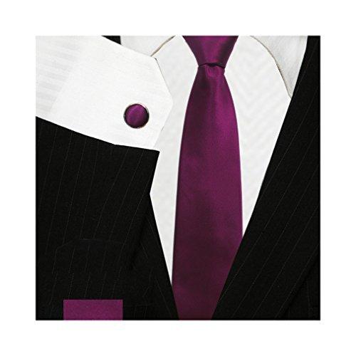 Bestow Dark Magenta Wedding Ties Set | Neckties
