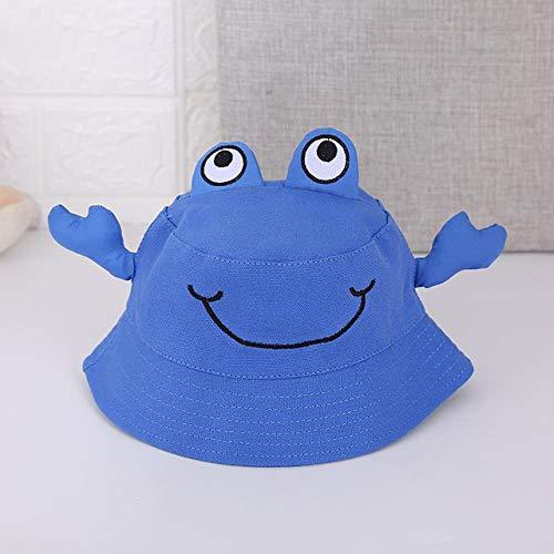 ZhanGJ Baby emmer hoed kind meisje krabben hoed lente zomer canvas zonnehoed baby fotografie rekwisieten voor kinderen 1-4 jaar oud
