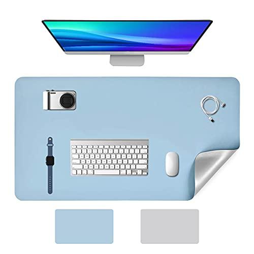 YingStar Alfombrilla de Escritorio Grande Alfombrilla de Ratón Teclado 800x400mm Mouse Pad Doble Cara Cuero PU Estera de Escritorio Mesa Protector para Gaming Ordenador PC Portátil Oficina Juegos