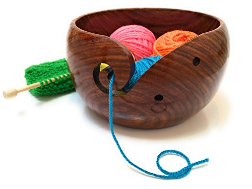 dalea home products premium wooden yarn bowl