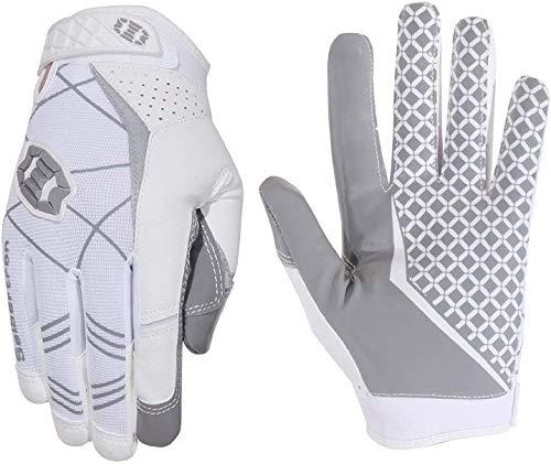 Seibertron Pro 3.0 Elite Ultra-Stick Sports Receiver/Empfänger Handschuhe American Football Gloves Jugend und Erwachsener White S