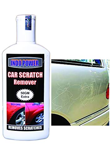 INDOPOWER CAR Scratch Remover 200gm. All Colour Car & Bike Scratch Remover Advanced Formula Rubbing Compound (Not for Dent & Deep Scratches).