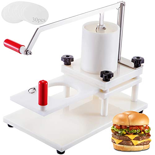 BotaBay Commercial Burger Press, 5 inch Manual Burger Forming Machine Upgrade Tabletop Fixed Design PE Material Hamburger Patty Forming Processor for Home or Restaurant Supermarket (5 inch)