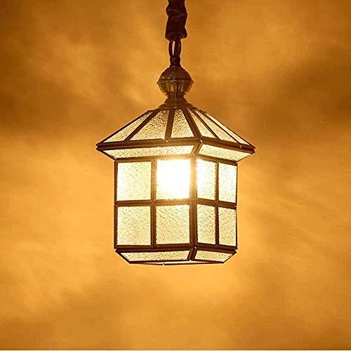 Modern Chandelier gewreven koper glas Afgewerkte hanglamp Indoor rustieke boerderij plafond licht, Verstelbare Kroonluchter for keuken Eetkamer