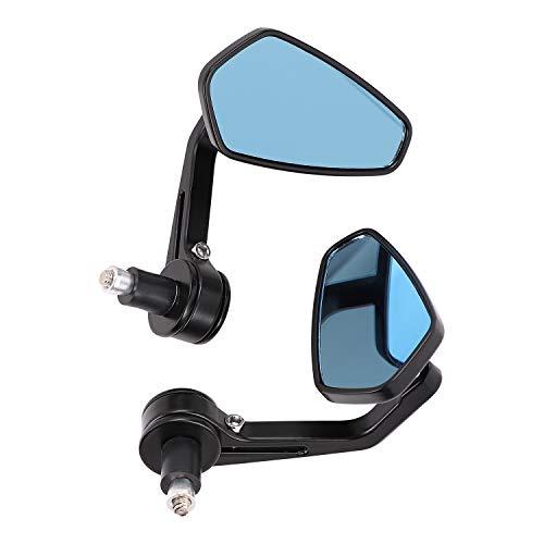 Espejo retrovisor para motocicleta universal para manillar de motos, espejo lateral de aluminio, giratorio para seguridad de conducción