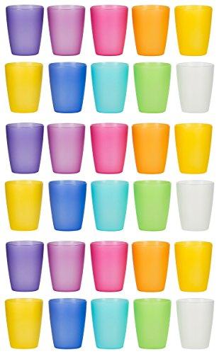 Kigima Trinkbecher Regenbogen Extra Stabil 0,24L (30 STK) Mehrfarbig
