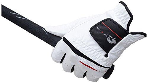 レザックス デジタルエンボス合皮グローブ 左手用 ホワイト B00VCXEL18 1枚目