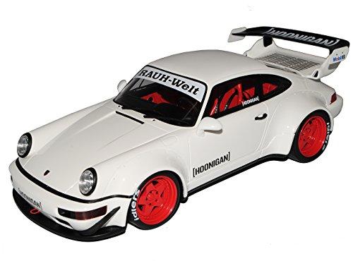 GT Spirit Porsche 911 964 RWB Coupe Weiss Rauh-Welt 1988-1994 Nr 732 1/18 Modell Auto