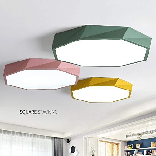 CYC ingebouwde plafondlamp met driekleurig geometrisch licht en intelligente stembediening met dimmer en afstandsbediening voor de keuken in de slaapkamer en eetkamer