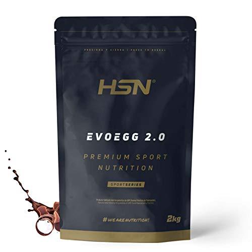 Proteína de Huevo de HSN Evoegg 2.0 | 100% Albúmina de Huevo en Polvo | Egg Protein | Para personas intolerantes a la lactosa y ovo-lactovegetarianos | Sin Gluten, Sin Lactosa, Sabor Chocolate, 2Kg