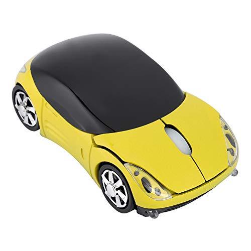 Ratón inalámbrico de 2,4G, ratón óptico de ratón inalámbrico de Ordenador portátil de PC, ratón inalámbrico 1600DPI para ME/Windows PC/Tablet Gaming Office(Amarillo)