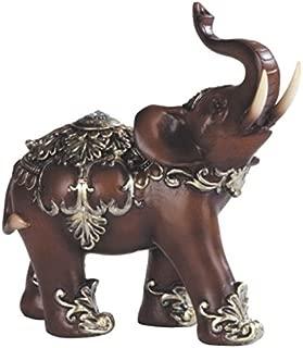 George S. Chen Imports Thai Elephant Wood Like Design Figurine, 6