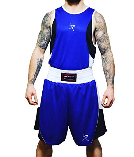 Pro Impact Unisex Boxing Vest Top and Shorts Set for...