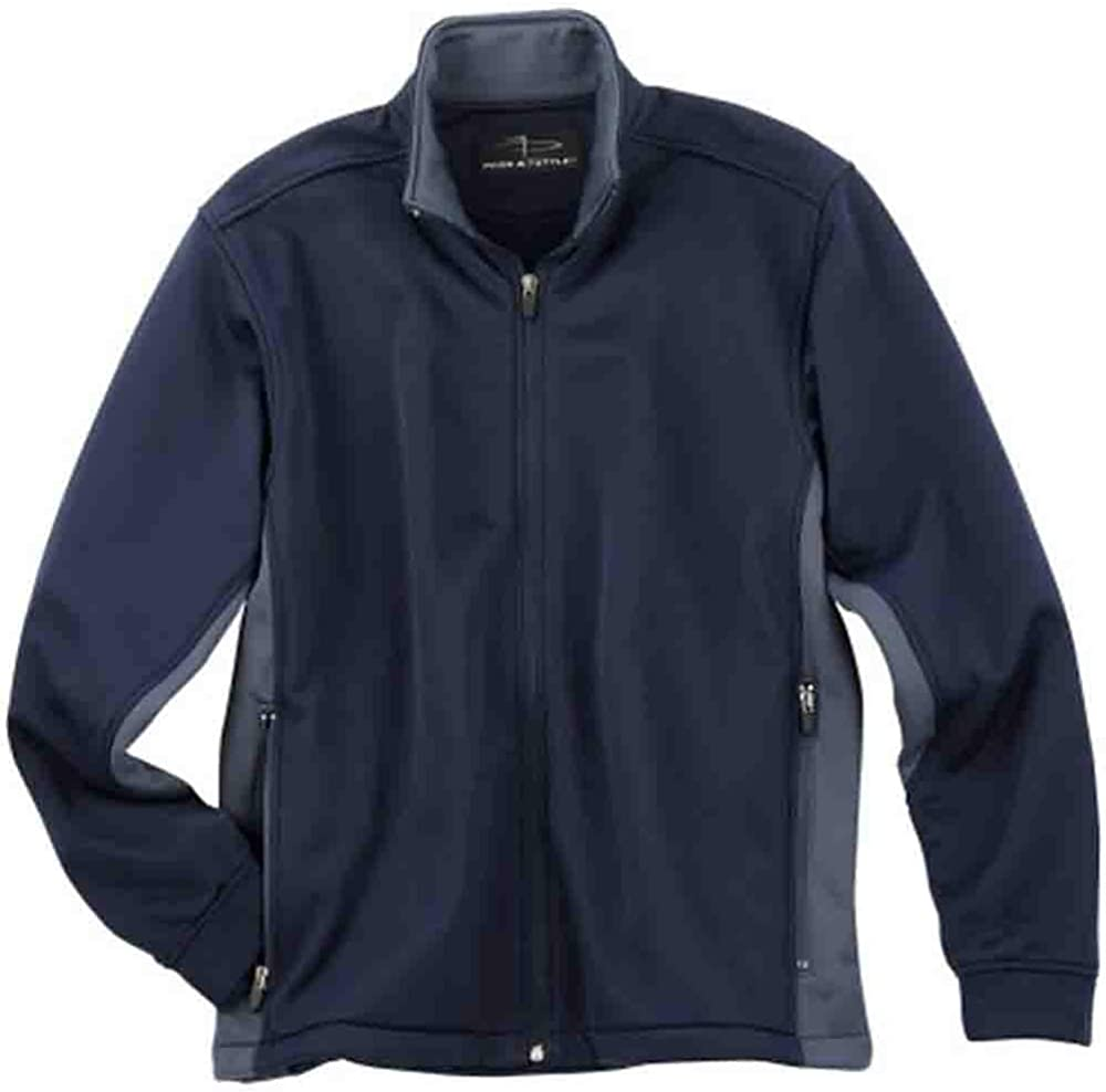 PAGE and TUTTLE Mens Color Block Micro Fleece Coats Jackets Outerwear Casual - Blue