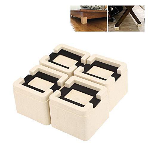 Massivt hjul sängskydd skåp soffa möbler fötter, 4 stycken/set stapelbar säng ben fotkudde halkfri möbel soffa skåp bord ben fötter matta höjd halkfri