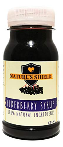 Elderberry Syrup - 100% Natural Ingredients - 125ml - Nature's Shield