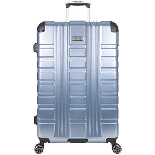 Kenneth Cole Reaction Scott's Corner Hardside Expandable 8-Wheel Spinner TSA Lock Travel Suitcase, Stone Blue