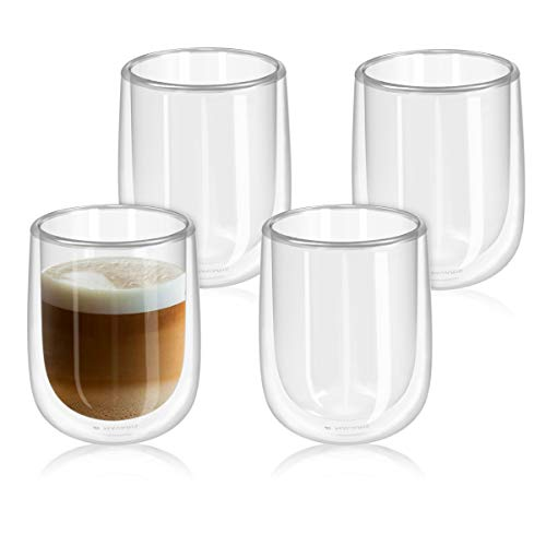 Navaris Set de 4 Vasos de Doble Cristal