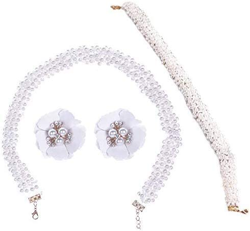 Urns Ashes Funeral Handmade Beaded Jewelry Set Bridal Headwear Europe and America Pearl Necklace Hair Strap Earrings Pet Memorial Dog cat Urn