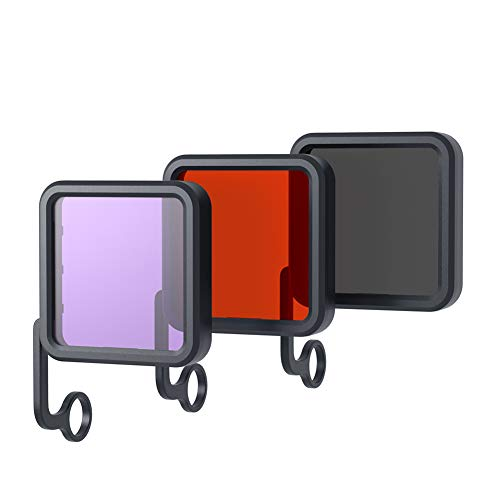 APEMAN Action Cam Filters,3 in 1 Red/Purple/Gray Filters for Underwater Camera Lens,Color Correction Compensation for A79 / A80 / A87 Action Cam