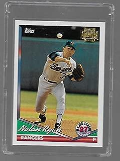 Nolan Ryan 2001 Topps Archives Baseball Card #34-1994 Season - Texas Rangers - Stored in a Protective Plastic Display Case!!