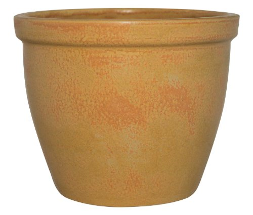 K&K Pot de fleurs / Jardinière Venus II, 45x37cm Couleur: beige sable antique céramique de grès (Haute qualité)