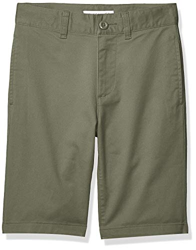 Amazon Essentials Boy's Woven Shorts, Olive, 7(S)